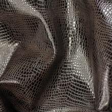 Кожа КРОКОДИЛ 11, темно- коричневый