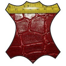 Кожа Крокодил 3 красный