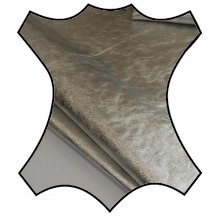 Кожа Нава металлик серебро