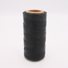 Кожа Нить плоская плетеная вощеная #114