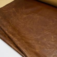 Кожа Пулл-Ап Светло-коричневый с восковой отделкой