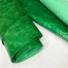 Кожа ПУЛЛ-АП Зеленый С ВОСКОВОЙ ОТДЕЛКОЙ