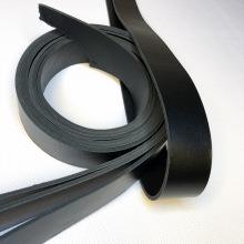 Кожа Ременная заготовка, двухсторонняя, черный 4,0+