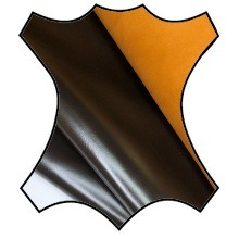 """Кожа """"Торро"""" с анилиновым покрытием и рыжей изнанке, т. коричневый"""