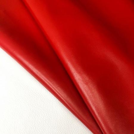 Кожа Бергамо, красный