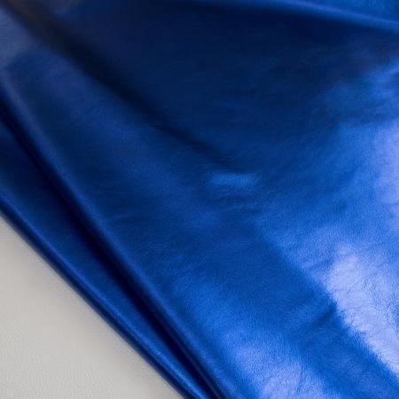 Кожа Галактика металлик синий