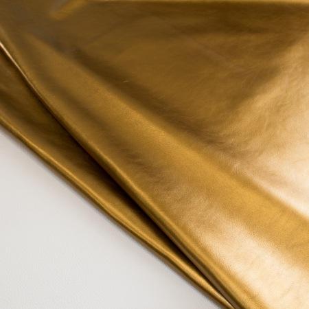 Кожа Галактика металлик темное золото