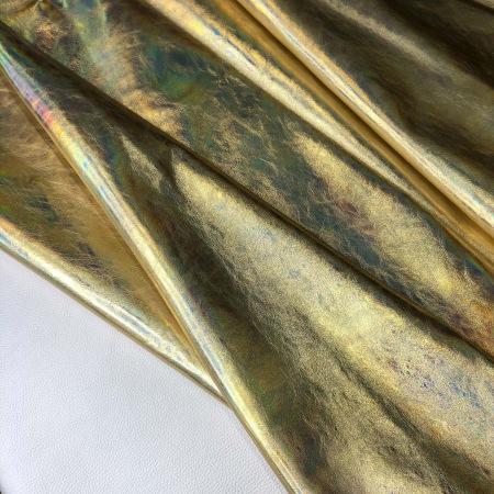 Кожа Голография металлик золото
