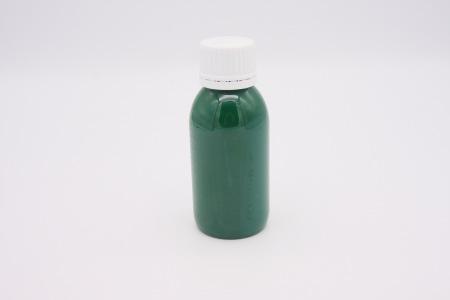 Кожа Итальянская краска для уреза кожи матовая, зеленая