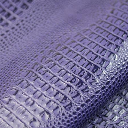 Кожа Кайман сине-фиолетовый 650