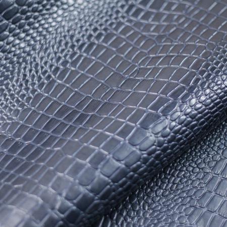 Кожа Крокодил 12 скат, синий