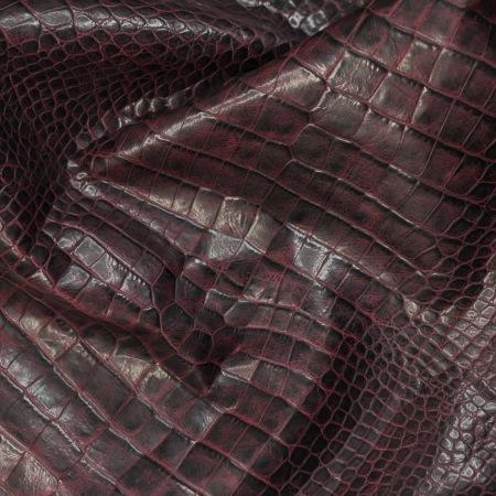 Кожа Крокодил, бордо (laciv) CH