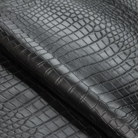 Кожа Крокодил, черный