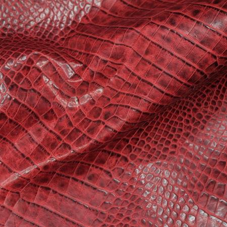 Кожа Крокодил, красный CH