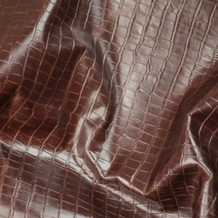 Кожа Крокодил (окна), коричневый
