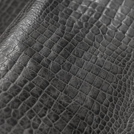 Кожа Крокодил, серый CH