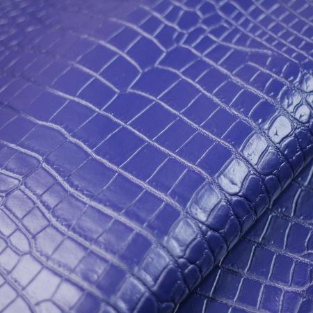 Кожа Крокодил, синий