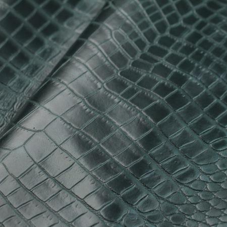 Кожа Крокодил, зеленый