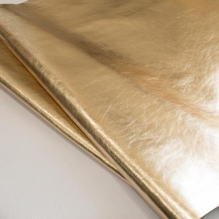 Кожа Ламанш металлик золото
