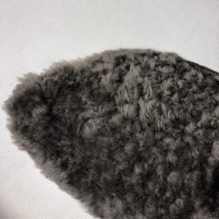 Кожа Мех интерьерный, серый