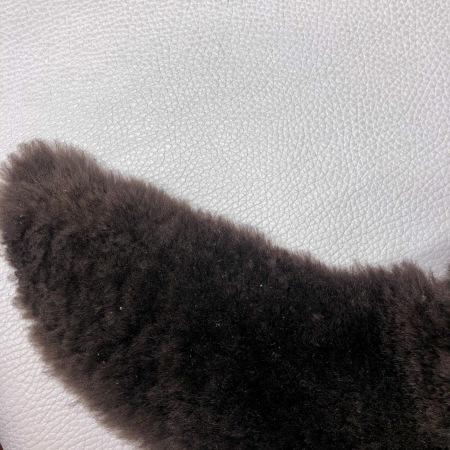 Кожа Мех интерьерный, темно-коричневый