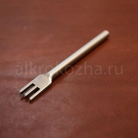 Кожа Пробойник ромбовидный 3 зуба, 4 мм.