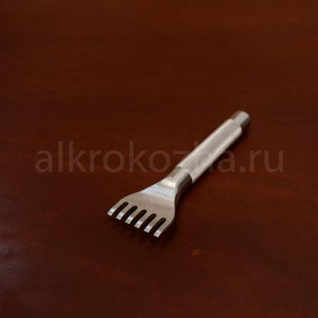 Кожа Рассекатель строчный 6 зубов, 2 мм.