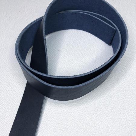 Кожа Ременная заготовка, синий 3,5+