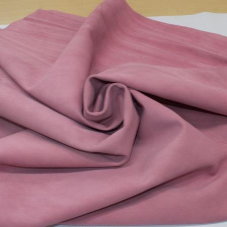 Кожа Спилок велюр (замша), бледно-розовый