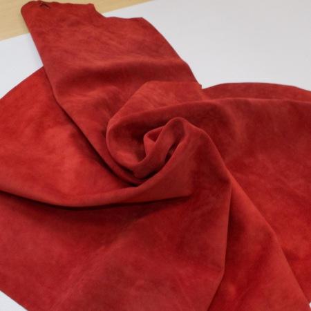 Кожа Спилок велюр (замша), красный