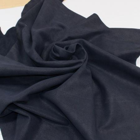 Кожа Спилок велюр (замша) кристалл, темно-синий