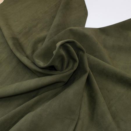 Кожа Спилок велюр (замша), оливковый