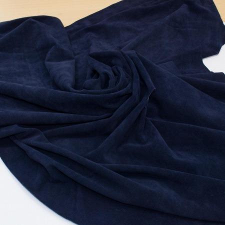 Кожа Спилок велюр (замша), темно-синий