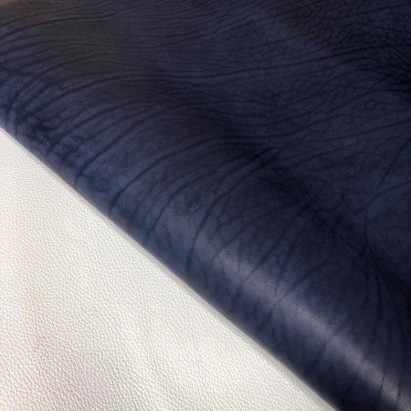 Кожа Вороток матовый, синий, 3,5+ мм