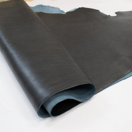 Кожа Вороток с эффектом старения, синий, 2,0-22 мм