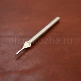 Кожа Пробойник ромбовидный 1 зуб, 4 мм.