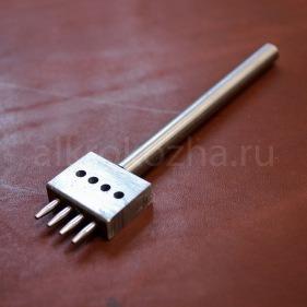 Кожа Пробойник строчный 4 зуба, 4 мм.