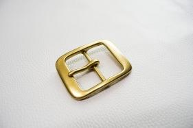 Кожа Ременная пряжка из латуни, 40 мм 007